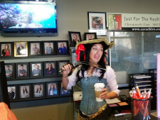 Ever seen a pirate drink starbucks?
